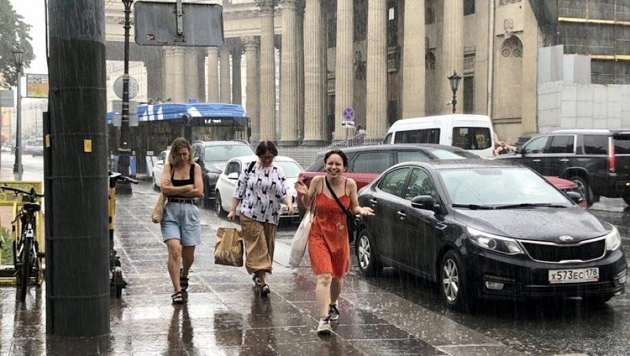 дождь лето